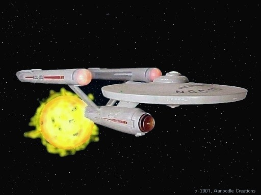 Enterprise with Star